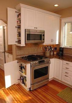 A kitchen pantry cabinet is often high on the list of essentials when homeowners remodel their kitchen. Here are seven great design ideas. 8 Kitchen Pantry Cabinet and Shelf Ideas That Solve Storage Problems Kitchen Pantry Cabinets, Kitchen Countertops, Soapstone Kitchen, Quartz Countertops, Kitchen Sinks, Laminate Countertops, Kitchen Backsplash, Backsplash Ideas, Pantry Cupboard