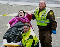The two blasts were 50 to 100 yards apart and exploded near the finish line of the Boston Marathon on April 15, 2013.