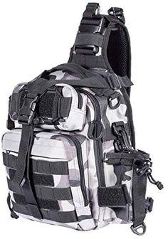 Himal Fishing Tackle Storage Bag,Outdoor Shoulder Backpack,Fishing Gear Bag,Waterproof Shoulder Backpack,Cross Body Sling Bag with Rod Holder