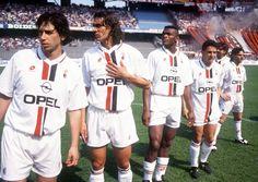 Demetrio Albertini, Paolo Maldini, Marcel Desailly & Roberto Baggio at Delle Alpi.