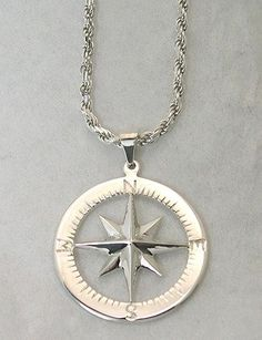 I've been dying to find a beautiful compass necklace. This is close to what I'm looking for...    Compass Rose Waypoints Sterling Silver Necklace