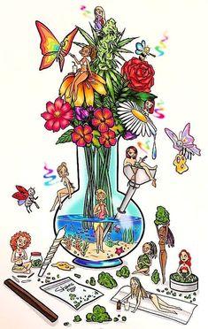 Tiny utopia Art Print by Shamsnoy - X-Small Hippie Painting, Trippy Painting, Body Painting, Trippy Drawings, Art Drawings, Drugs Art, Psychadelic Art, Marijuana Art, Stoner Art