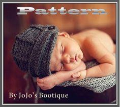 PDF Newsboy Hat PATTERN Baby Newsboy Hat by JojosBootique