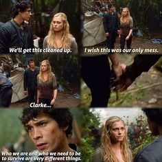 #The100 #CW - Bellamy and Clarke ~ I really like Clarke and Finn. But I'm also really starting to ship her and Bellamy.