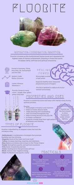 Learn all about Fluorite, its many uses and properties. #crystalcorner #greenaventurine #goodluck #prosperity #creativity #success #chakra #buddhist #jewelry #jewellery #shop #zen #reclaimingzen #decor #home #meditation #spiritual #bohemian #mentalhealth #spiritualhealth #astrology #love #peace #happiness #teachings #learn #guidance #wicca #buddhist #spiritual