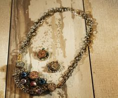 Industrial Inspired Chic Galaxy Necklace. See more at:http://www.beadelish.com