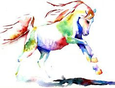 http://sythesite.deviantart.com/art/Rainbow-Horse-Study-II-126484480 happy chinese new year! Year of the horse finally! ♡