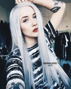 silver waist-length straight synthetic wig http://www.donalovehair.com/130-silver-waist-length-straight-synthetic-lace-wig-sny017.html