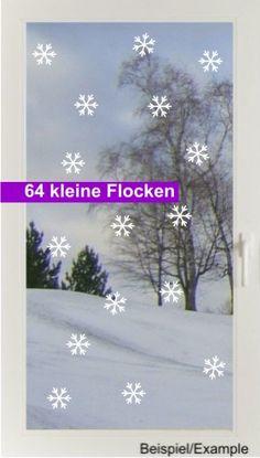 Weihnachtsdeko - Schneegestöber - Klein - Fenstertattoo - ein Designerstück von CatrinKerschl bei DaWanda