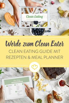 E-Book Clean Eating You want to eat more consciously? Without refined sugar, additives and flavor enhancers? Our Clean Eating E-Book awaits you on 123 pages delicious recipes and the most important basics for a simple start. Clean Eating Guide, Clean Eating For Beginners, Clean Eating Meal Plan, Clean Eating Breakfast, Clean Eating Dinner, Clean Eating Recipes, Clean Eating Snacks, Eating Raw, Paleo Breakfast