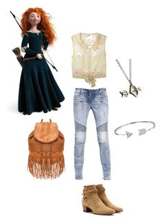 """""""Merida in high school"""" by cyphertbethany on Polyvore"""