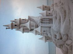Sand castle wedding cake :)