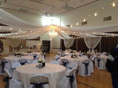 Wedding ceiling treatments on pinterest events masters and a gym