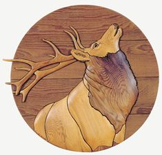 Intarsia woodworking pattern of a Elk head and shoulders bugling Woodworking Kitchen Projects, Woodworking Furniture Plans, Learn Woodworking, Woodworking Patterns, Woodworking Quotes, Woodworking Machinery, Woodworking Workbench, Woodworking Videos, Rocking Horse Plans