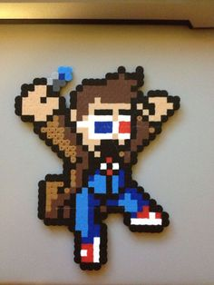 Doctor Who Tenth Doctor Perler Bead Sprite by That8bitGuyBeadArt
