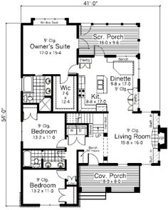Square house plans house plans and squares on pinterest - How much to deep clean a 3 bedroom house ...
