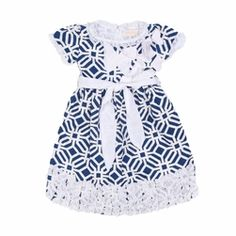 Trish Scully Navy Geometric Evelyn Dress-Designer Girl Clothes Girls Designer Clothes, Designer Dresses, Sassy Girl, Fairy Godmother, Scully, Cute Baby Clothes, Navy Dress, Kids Clothing, Claire