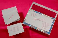 Bat Mitzvah Invitation with cool prismatic foil border. Fun & stylish. eMitz.com