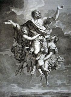 Nicolas Poussin, Ecstasy of saint Paul - Natalis engraving