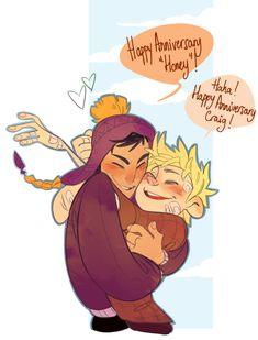 Anonymous said: happy two year anniversary to creek! Damn time flies by fast Happy anniversary to these two silly boys! South Park Anime, South Park Fanart, Old Married Couple, Tweek And Craig, Tweek South Park, Cartoon Books, Fandoms, Cute Gay, Fujoshi