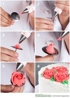 How to Pipe a Rose...I always did want to know how to do this!