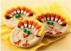 Turkey decorated Sugar Cookies