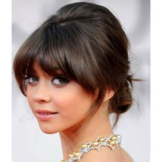Celebrities Updos For Medium Length Hair with Bangs | Updos for medium length hair found on Polyvore
