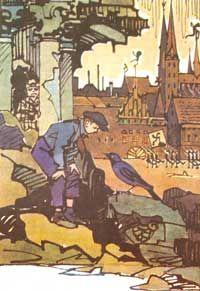 Ил. В.Алфеевского к сказке «О Мите и Маше, о веселом трубочисте и мастере золотые руки»