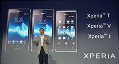 Sony presentó sus nuevos móviles, Xperia T, Xperia V y Xperia J