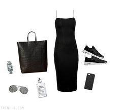 Trini blog | T by Alexander Wang dress - Nike sneakers - Céline cabas bag - Acne Studios sunglasses