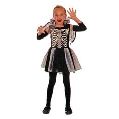This girls skeleton Halloween costume with black and white tutu will be a hit at your next dress up party. Includes: Dress with tutu Glovelets Wings Sizing Ages: for Height: Chest: Waist: Ages for Height Chest: Waist: Ages for Height Chest: Waist: Next Dresses, Fancy Dress Outfits, Dress Up, Skeleton Halloween Costume, Childrens Fancy Dress, White Tutu, Punk, Black And White, Girls