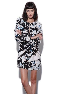 Womens #Fashion #Clothing: Dresses: Womens Stylestalker Dress - Stylestalker Kiss The Glass Dress in Black and White Print Pattern: Clothes
