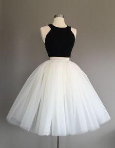 Ivory Tulle Skirt light ivory tulle skirt by Morningstardesignsmi