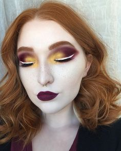 WEBSTA @ anoetic.makeup - all of the warm tones •••lock it foundation. white out concealer. pür transformation palette for contour shade. metal matte palette. nyx white gel liner. abh brow pomade in auburn for brows
