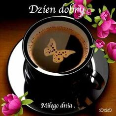 Dzień dobry, Miłego dnia #dziendobry kawa Elf Make Up, Coffee Love, Coffee Art, Good Morning Gif, Beautiful Gif, Beautiful Pictures, Diy And Crafts, Food And Drink, Humor
