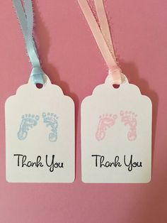 24 Adorable Baby Shower Tags - so cute your guests will love them! These Favor Tags for Baby can be in pink or blue and be used for Baby
