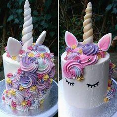 unicorn cake from Einhornkuchen aus Pretty Cakes, Cute Cakes, Beautiful Cakes, Amazing Cakes, Unicorn Birthday Parties, Unicorn Party, Birthday Ideas, 5th Birthday, Rainbow Unicorn