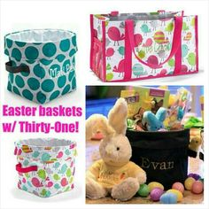 Use Thirty One totes and bags as cute reusable Easter baskets.