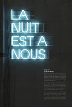 The introduction of neon.I think I could say these personal neon executions of a campaign I've created for Eristoff vodka together with the Drive neon kind of started the whole neon hype. Neon Licht, Neon Design, Light Design, Design Design, Interior Design, Trends Magazine, French Words, Digital Signage, Grafik Design