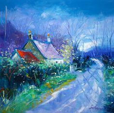 Springlight, Dun Rostan, Knapdale by Jolomo - John Lowrie Morrison Oil Paintings, Landscape Paintings, Art Advisor, Acrylic Painting For Beginners, Art Styles, Teaching Art, Contemporary Artists, Oil On Canvas, Pop Art