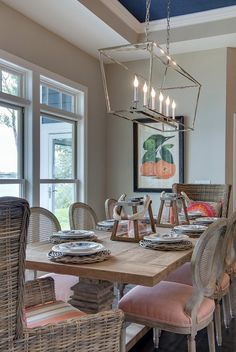 Dining Room Lighting   The Breakfast Nook Lighting Is E.F. Chapman Darlana  6 Light Linear Pendant