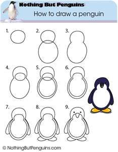 How to draw a penguin. Great activity for after reading The Emperor's