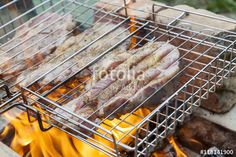"Download the royalty-free photo ""Grilled pork steaks on the grill"" created by Victoria Kondysenko at the lowest price on Fotolia.com. Browse our cheap image bank online to find the perfect stock photo for your marketing projects!"