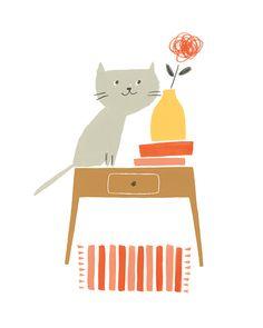 Grey Cat www.ekaterinatrukhan.com