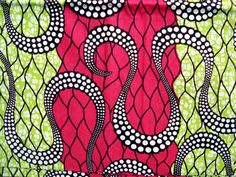 African wax print fabric BY THE YARD 100 cotton by ChilliPeppa, £5.20
