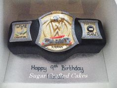 wwe championship belt cupcake pictures | Wrestling belt - Sugar Crafted Cakes based in Ripon, North Yorkshire ...