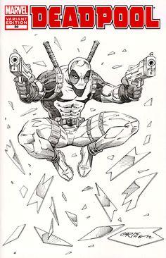DeadPool Sketch Cover by on DeviantArt Bugs Bunny Drawing, Cartoon Girl Drawing, Cartoon Sketches, Marvel Comics, Arte Dc Comics, Marvel Art, Drawing Superheroes, Marvel Drawings, Deadpool Art