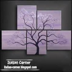 tree art abstract oil painting on canvas Italian wall art paintings purple Multiple Canvas Paintings, Multi Canvas Painting, Simple Oil Painting, Simple Canvas Paintings, Oil Painting Abstract, Abstract Canvas, Diy Painting, Art Paintings, Abstract Nature