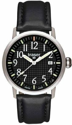 Traser Classic Basic Watch with Leather Strap - Black Traser. $225.00. Save 10% Off!
