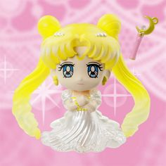 Crunchyroll - Store - Petit Chara! Pretty Soldier Sailor Moon - Princess Serenity & Moon Stick Charm Set -